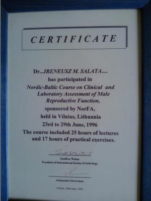 Ireneusz Saata Gabinet Certyfikaty 10